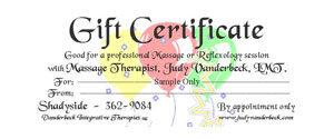 Sample Gift Certificate Balloons Design