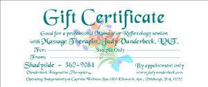 Sample Gift Certificate Flowers Design