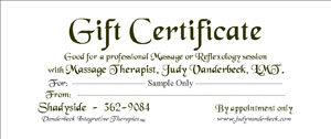 Sample Gift Certificate Plain Design