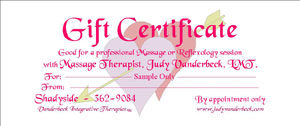 Sample Gift Certificate Hearts Design