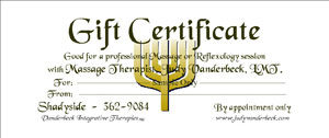Sample Gift Certificate Menorah Design