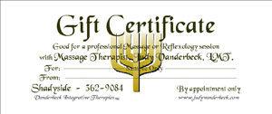 Sample Gift Certificate Menorah Design