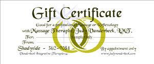 Sample Gift Certificate Rings Design